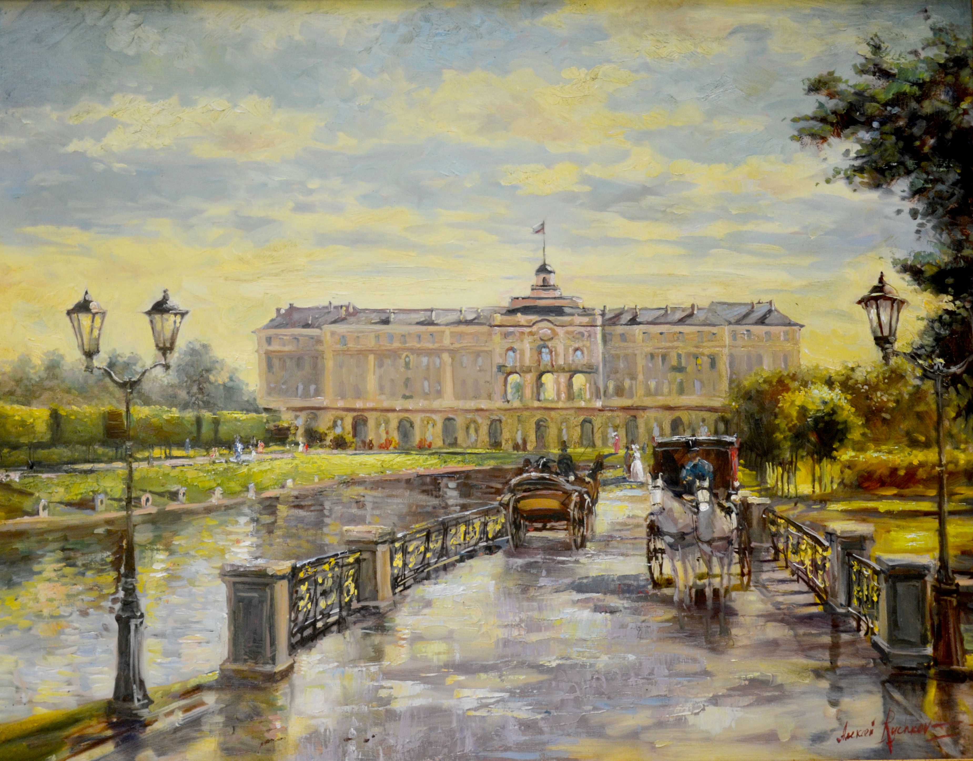 Картинки по запросу акварели константиновский дворец